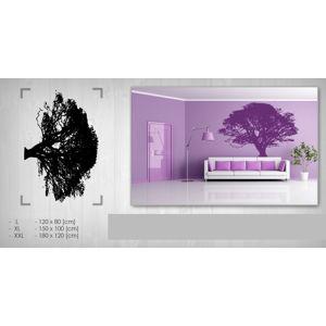 Nálepka na stenu STROM 100x150 cm NAS047/24h - čierna farba (skladom)