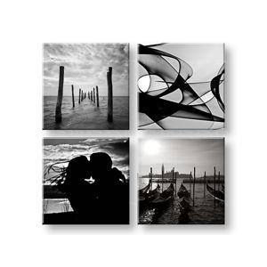 Obraz na stenu Memories of love 4 dielny 40x40 cm XOBKOL02E42/24h (skladom)