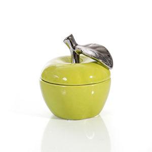 Zelené jablko JULIA 12x13 cm (keramická dekorácia)