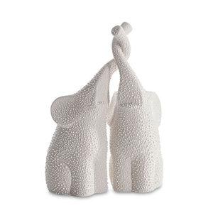 Figúrky slony RISO 2 ks (sloníky v krémovej farbe)