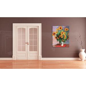 Obraz na plátne SLNEČNICE – Claude Monet    REP082 (reprodukcia 80x100 cm)