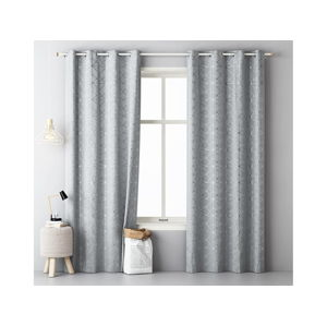 Záves GLAMMY Light Grey 1ks 140x250cm (záves na krúžky)