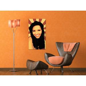 Ručne maľovaný POP Art obraz The Girl 90x50cm zuz (POP ART obrazy)