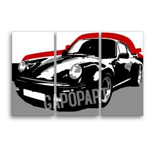 Ručne maľovaný POP Art obraz PORSCHE 911 3 dielny  por5 (POP ART obrazy)