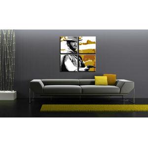 Ručne maľovaný POP Art obraz Clint Eastwood 3 dielny  ce3 (POP ART obrazy)