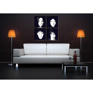 Ručne maľovaný POP Art obraz The Vervet 4 dielny  tv (POP ART obrazy)