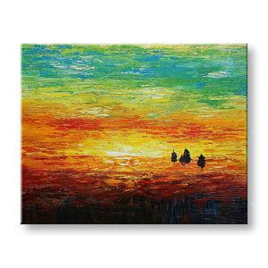 Maľovaný obraz na stenu ZÁPAD SLNKA BI135E1 (maľované obrazy BIANCA)