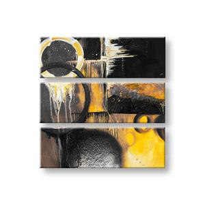 Maľovaný obraz na stenu DeLUXE ABSTRAKT 3 dielny 032D3 (ručne maľované obrazy)