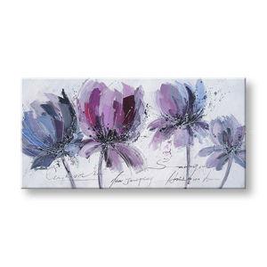 Maľovaný obraz na stenu KVETY FB060E1 (maľované obrazy FABIO)