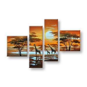 Maľovaný obraz na stenu AFRIKA FB101E4 (maľované obrazy FABIO)