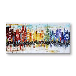 Maľovaný obraz na stenu MESTO FB164E1 (maľované obrazy FABIO)