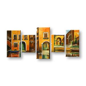 Maľovaný obraz na stenu MESTO FB261E5 (maľované obrazy FABIO)