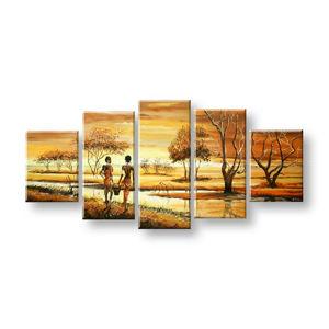 Maľovaný obraz na stenu AFRIKA FB327E5 (maľované obrazy FABIO)