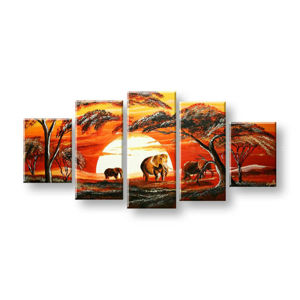 Maľovaný obraz na stenu AFRIKA FB380E5 (maľované obrazy FABIO)