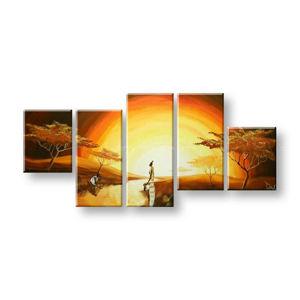 Maľovaný obraz na stenu AFRIKA FB386E5 (maľované obrazy FABIO)