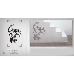 Nálepka na stenu KVETY NAK054 (samolepky na stenu)