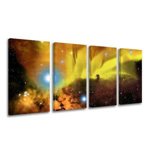 Obraz na stenu 4 dielny VESMÍR GA002E41 (moderné obrazy na plátne)