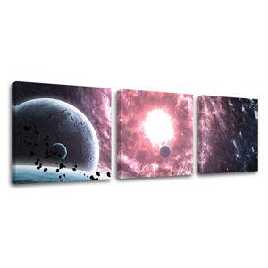 Obraz na stenu 3 dielny VESMÍR GA007E33 (moderné obrazy na plátne)