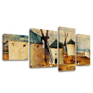 Obraz na plátne 4 dielny INŠPIRÁCIA IN019E40 (moderný 4 dielny obraz na plátne)