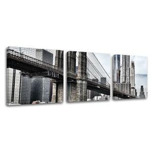 Obraz na stenu 3 dielny MESTO / NEW YORK ME115E33 (moderné obrazy na plátne)