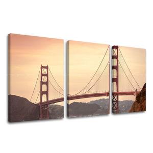 Obraz na stenu 3 dielny MESTO / SAN FRANCISCO ME116E32 (moderné obrazy na plátne)