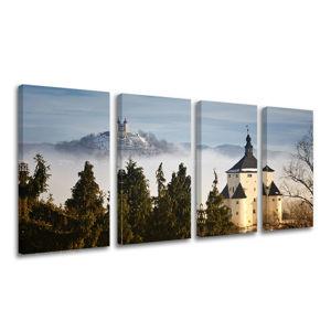 Obraz na stenu 4 dielny SLOVENSKO SK013E41 (moderné obrazy na plátne)