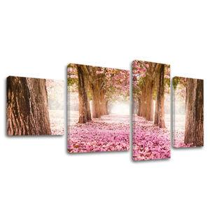Obraz na plátne 4 dielny STROMY ST008E40 (moderný 4 dielny obraz na plátne)