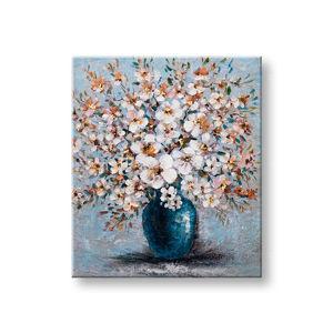 Maľovaný obraz na stenu KVETY 1 dielny CFAFL019 - 60x70 cm (maľované obrazy)